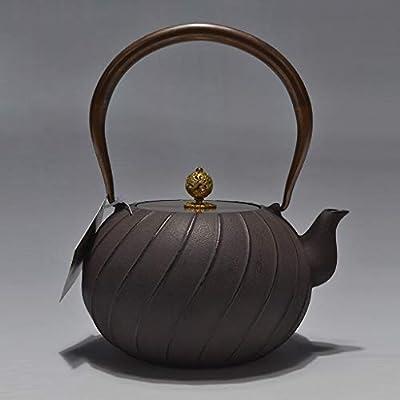 Théières Théière en fonte bouilloire de style japonais Tetsubin 1.2L |Bouilloire en fonte pour garder le thé au chaud |Bouilloire en fer à motif rétro