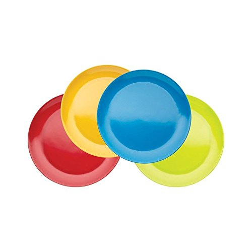 Price comparison product image Miniamo Bright Plates 21cm, Assorted Colours 4 per pack - Pack of 6
