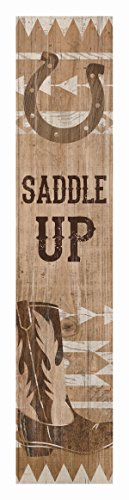 P. Graham Dunn Saddle Up Cowboy Boot Hufeisen, 3,8 x 19,1 cm, Kiefernholz, vertikal
