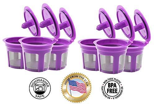Füllen N Save 4Stück wiederverwendbar K Tassen für Keurig 2.0& Rückwärts kompatibel mit Original Keurig 1.0Modelle. Funktioniert mit Keurig Maschinen und andere einzelne Cup Brewers - Kaffee-tassen Keurig Wiederverwendbar