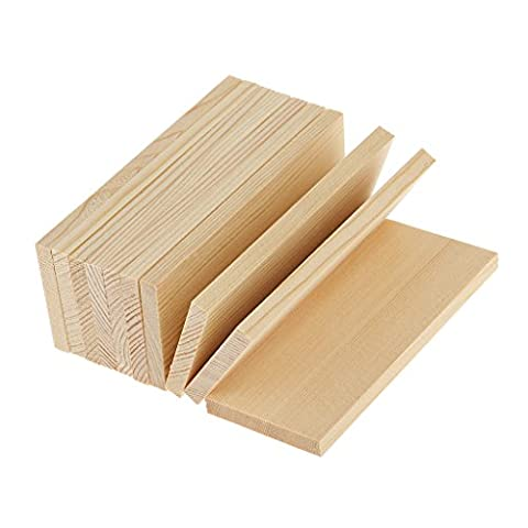 MagiDeal 10 Pieces Natural Wooden Shape Pine Wood Board Panels for Modelling Crafts Making Supplies - 10cm