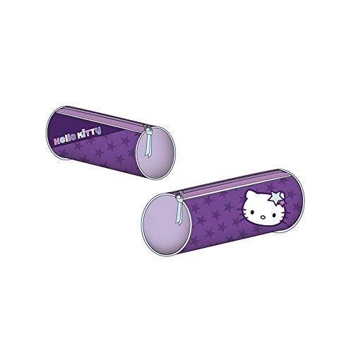 Hello kitty - trousse fourre tout rond violet