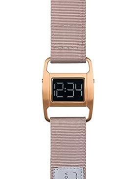PXR-5 - Digitaluhr von Michael Young für VOID / Style: Gebürstet Kupfer & Dusty Pink Nylon Armband