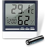 Termómetro higrómetro digital, aLLreLi–thermo-hygromètre electrónica interior LCD Digital inalámbrico, termómetro cámara bebé