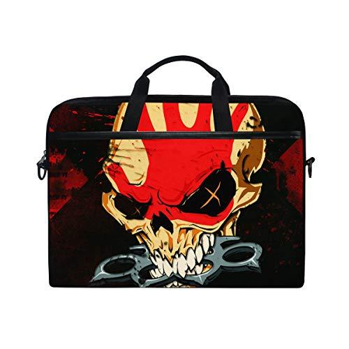 Hunihuni Art Painting Skull Laptop Schultertasche Messenger Bag -