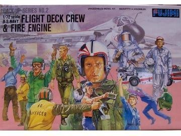 fujimi-1-72-modern-us-navy-flight-deck-crew-and-fire-engine