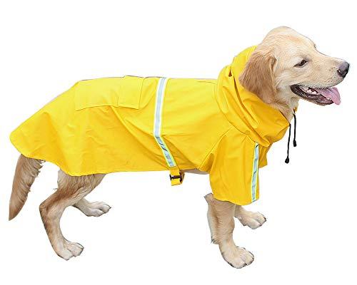 Morezi Outdoor Haustier Hund Regenmantel Verstellbar Wasserdicht Haustier Hund Mantel Winddicht Sicherheit Regenmantel Atmungsaktiv Regenbekleidung Kleidung für Welpen Kleine mittelgroße große Hunde