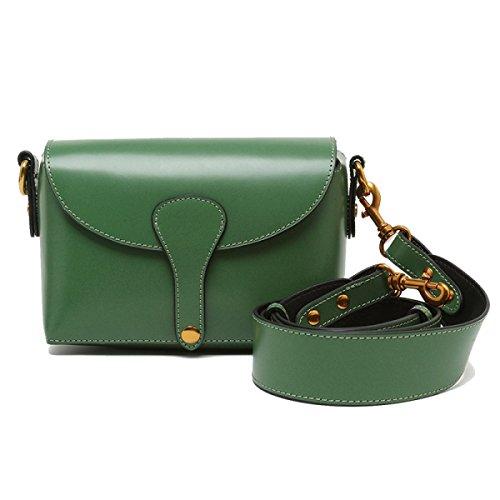 Frauen Echtes Leder Anti-Diebstahl Umschlag-Art Einzelne Schulter-Umhängetasche Tasche Green