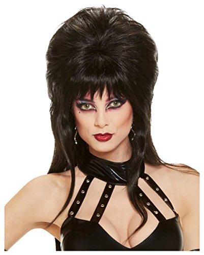 erücke schwarz (Elvira Kostüm Perücke)