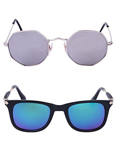 Amour-propre AmourPropre Multicolor UV Protected Unisex sunglasses Pack of 2_(AM_CMB_LP_2583)