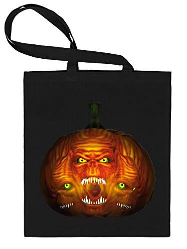 Golebros Halloween Killer Kürbis Pumkin Face 5961 Süßigkeiten Bonbons Tasche Stoffbeutel Tragebeutel Beutel Kinder Schwarz