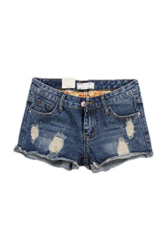 yulinge Women Summer Casual Destroyed Ripped Denim Shorts Plus Size