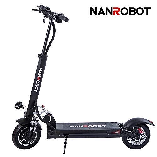 NANROBOT D5 + 2000 W Adulte Trottinette électrique Pliable et léger avec 80 km Batterie jusqu'à Longue portée 42 MPH
