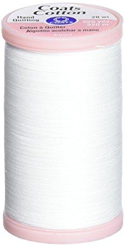 Coats & Clark Hand Quilting Baumwolle Gewinde, 350-yard, weiß (Baumwoll-350 Thread)