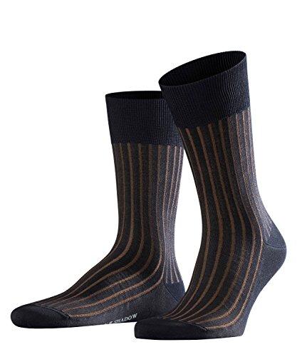 FALKE Shadow Herren Socken dark navy (6374) 41-42 Zweifarbeneffekt durch Rippstruktur -