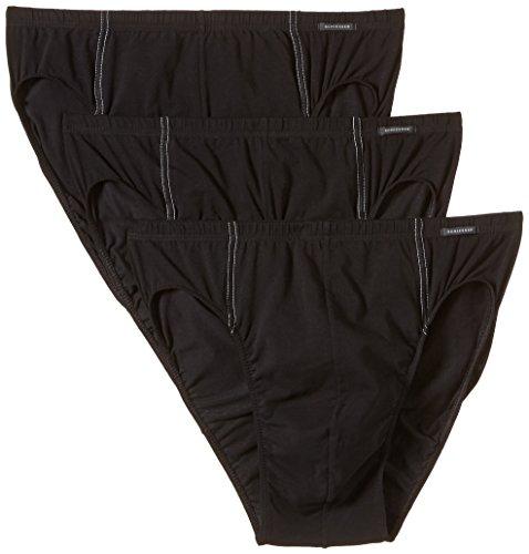 Schiesser Herren Slip 3 er Pack 005221-000, Gr. 6 (L), Schwarz (000-schwarz)