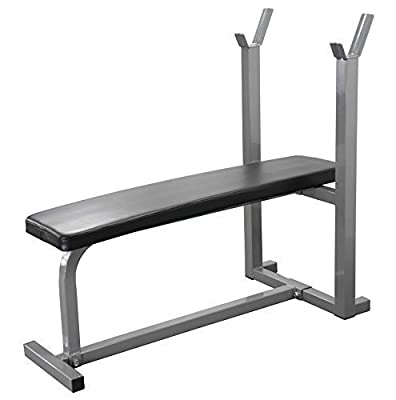 Weight Bench Gym Fitness Bench Exercise Training Bench. Heavy Duty Flat Bench. by IQI FITNESS