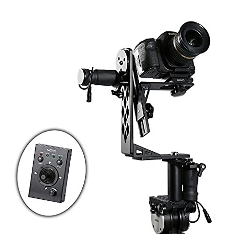 Movo Aluminum Motorized 360° Pan / Tilt Gimbal Head for Tripods & Jibs - Supports Cameras up to 5kg