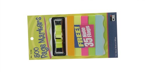 Charles Leonard Inc. Page Markers, 500 with 35 Note Flags Free, 500/card (76780) by Charles Leonard