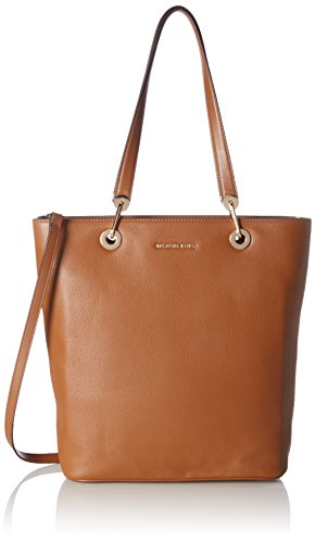 Michael Kors Damen Raven Large Ns Top Zip Tote, Braun (Luggage), 12x35x28 cm (Leder Top Zip Large Tote)
