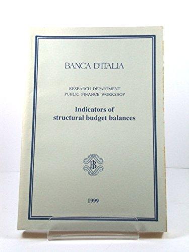 Banca d'Italia Research Department Public Finance Workshop: Indicators of Structural Budget Balances