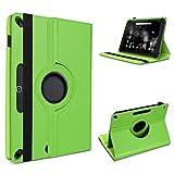 Robuste Tablet Schutzhülle für Huawei MediaPad T1 T2 T3 10.0 aus Kunstleder Hülle Tasche Standfunktion 360° Drehbar Cover Case Universal von UC-Express, Farben:Grün