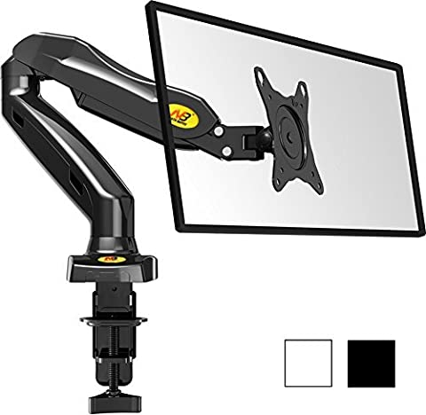 StandMounts Full Motion Desk Swivel Arm Mount for Computer Monitors 17'' - 27 LED LCD Flat Panel TVs from 4.4 lbs upto 14.3 lbs with Gas Spring