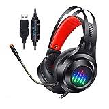 CSxinfei XF_H2108 Casque Audio Filaire USB avec Son Surround 7.1 Casque de Jeu avec...