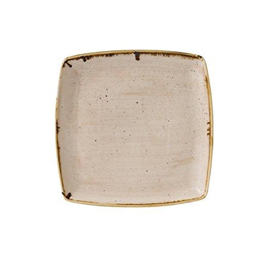 Churchill Super vitrifiée Gr945 Classcast Assiette creuse carrée Crème de noix de muscade (lot de 12)