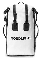 Nordlight Wasserdichter Rucksack 30L Roll Top - mit gepolstertem Tragegurt, Dry Bag Rucksack für Wassersport, Fahrrad Rucksack, Kurierrucksack, Trekking, Angeln, Snowboarden (Weiß)