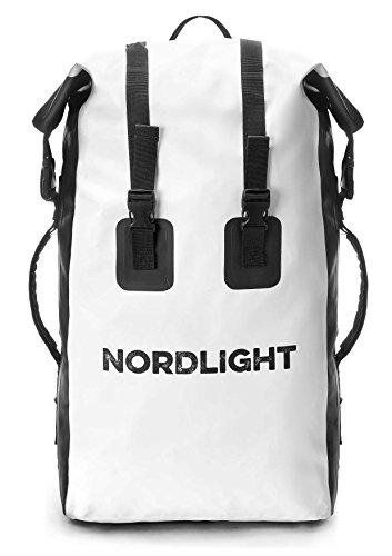 Nordlight Wasserdichter Rucksack mit gepolstertem Tragegurt - 30 Liter Fahrradrucksack, Kurierrucksack, Trekking, Wassersport, Angeln, Snowboarden