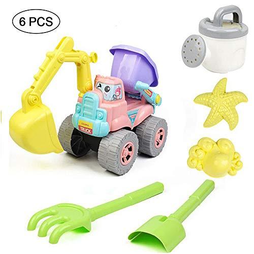 Rclhh Strandspielzeug Set, Kinderspielzeug für Kinder Großes Set 6-TLG - Schiebebagger, Sommer Modellbausatz für Kinder