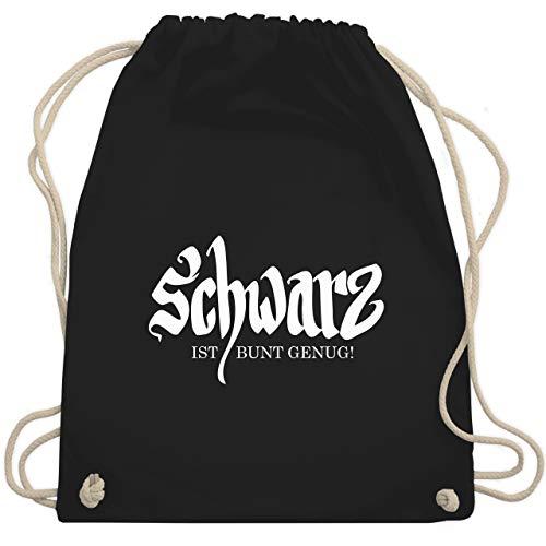 Nerds & Geeks - Schwarz ist bunt genug - Unisize - Schwarz - WM110 - Turnbeutel & Gym Bag