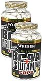 Weider BCAA + Glutamin 180 Kapseln, 2er Pack (2 x 255 g)