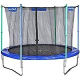 HUDORA Fitness Trampolin/Gartentrampolin, mit Sicherheitsnetz, blau/grün
