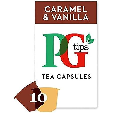 Pg Tips Caramello E Tè Compatibili Nespresso Vaniglia Capsule 10 Per Confezione - Confezione da 2