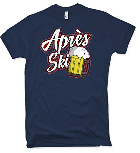 NG articlezz Apres Ski Party T-Shirt Winter Snowboard Ski Bier s-XXL (Bier Distressed)