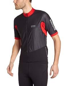 Gore Bike Wear Men's Oxygen Windstopper Jersey - Black/Red, Small