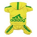 Scheppend Super-Niedliche Adidog Sports Jacke für Haustiere, Kleidung, Hoodie aus Baumwolle, kleine, mittlere große Hunde, Pullover, Winter-Outfits für Welpen, weich warm T-Shirt Sweatshirt
