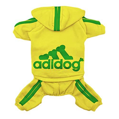 Kostüm Super Hunde Niedliche - Scheppend Super-Niedliche Adidog Sports Jacke für Haustiere, Kleidung, Hoodie aus Baumwolle, kleine, mittlere große Hunde, Pullover, Winter-Outfits für Welpen, weich warm T-Shirt Sweatshirt