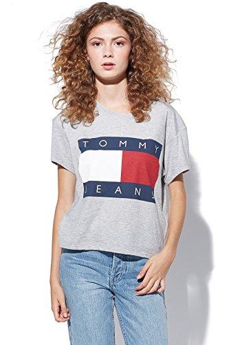 tommy-hilfiger-denim-jeans-90s-logo-t-shirt-damen-m-grau