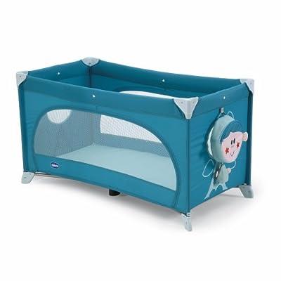 Chicco 06079027480000 Easy Sleep - Cuna de viaje con colchón, bolsa para pijama y bolsa de transporte, color azul