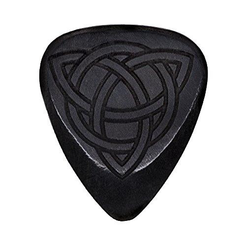 Tonos láser LASTTR1 African púa para guitarra con símbolo celta de ébano