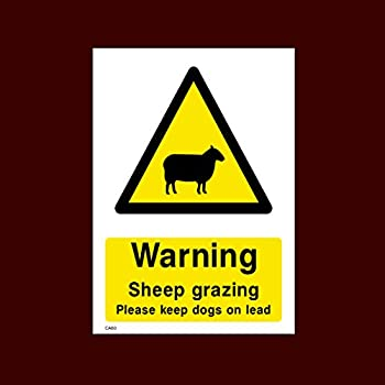 Vinyl On Correx Sign 210x75mm Please Keep Dogs On A Lead Farming Signage Livestock Area /…