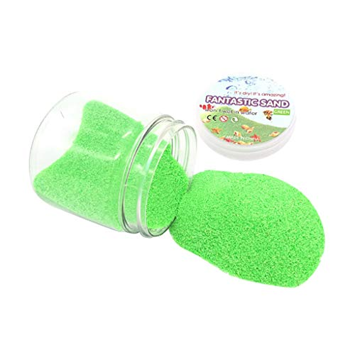 TDFGCR Magischer Sandraum-Sand-hydrophober Sand-Spiel-Spielwaren irgendein Kind bevorzugen Geburtstagsgeschenk-Grün