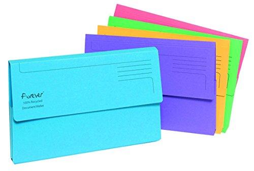 (Forever Guildhall 211/5000 Mappen für Dokumente, A4, helles Manila-Papier, farblich sortiert)