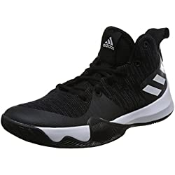 Adidas Explosive Flash, Zapatillas de Baloncesto para Hombre, Negro (Negbas/Carbon/Ftwbla 000), 46 2/3 EU