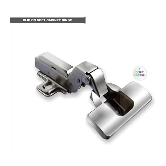 Godrej Pair of Clip On Soft Closing Concealed Hinges for Full Overlay Doors 2 Holes (15-22mm)