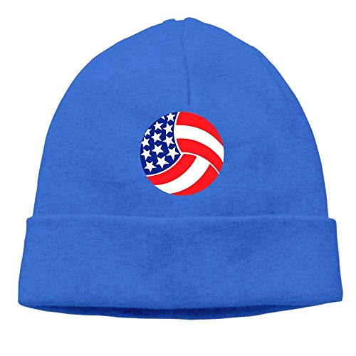 angwenkuanku Men & Women USA Volleyball Outdoor Wool Beanies Hat Soft Winter Knit Caps gorgeous17889