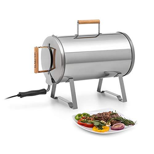KLARSTEIN Gourmet Barrel Horno ahumador - Acero Inoxidable de 0,6 mm, Asas...